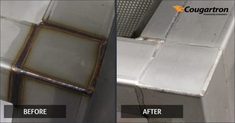 stainless steel weld cleaning