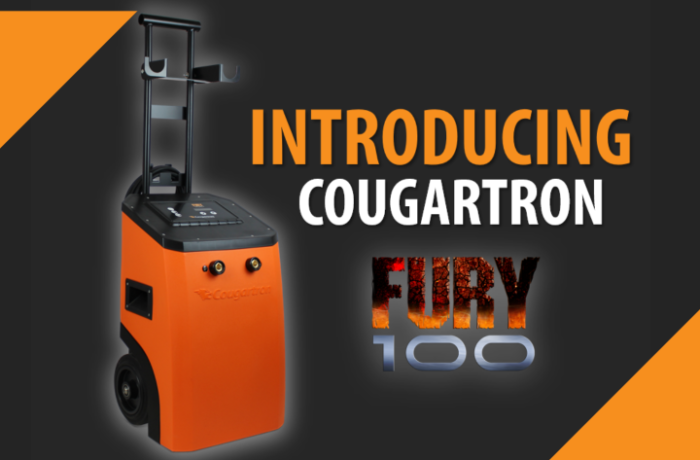 Introducing Cougartron FURY100 – Our new 100 Amp weld cleaner!