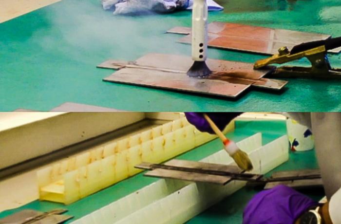 Elektrolytische Schweißnahtreinigung VS chemisches Beizen – Korrosionsprüfung von Platten aus rostfreiem Edelstahl
