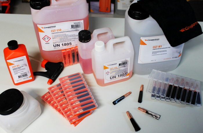 Cost of consumables for electrolytic weld cleaning