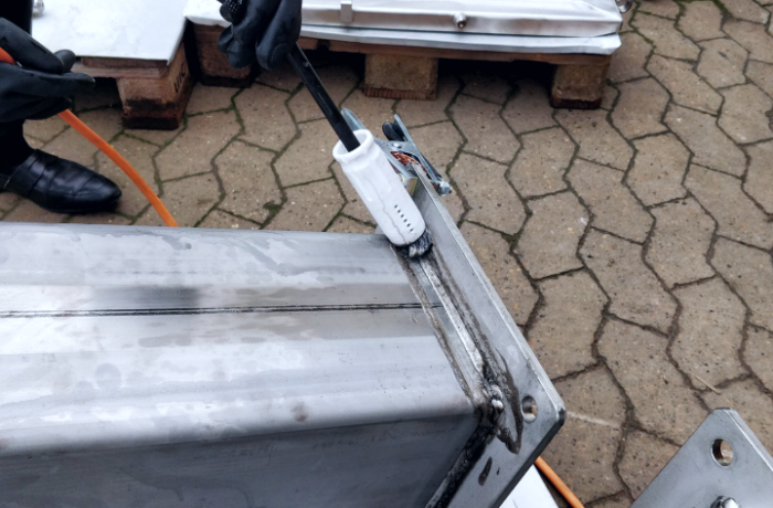The most environmentally friendly weld cleaning method